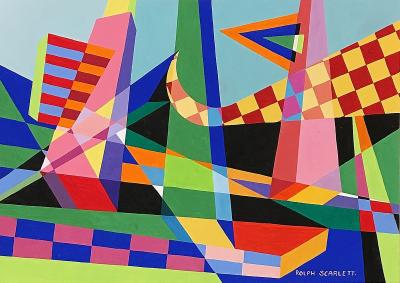 Rolph Scarlett Untitled Geometric Abstraction