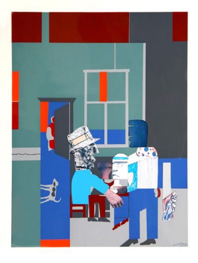 Romare H Bearden Carolina Blue Interior