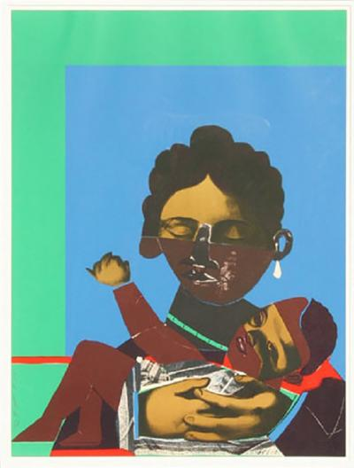 Romare H Bearden Mother and Child