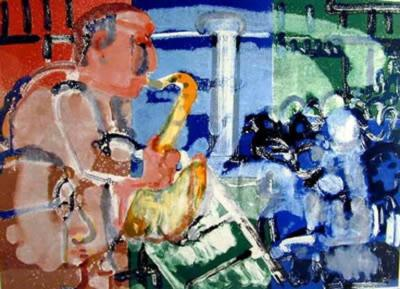 Romare H Bearden Stomp Time From the Jazz Series