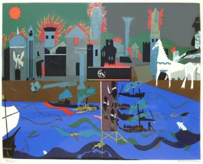 Romare H Bearden The Fall of Troy