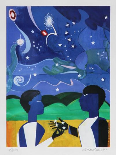 Romare H Bearden Two Worlds