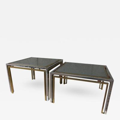 Romeo Rega 2 Coffee Tables attributed to Romeo Rega Italy 1970