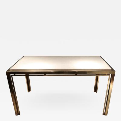 Romeo Rega A Gilded Brass and Marble Console Table by Romeo Rega Italy 1970
