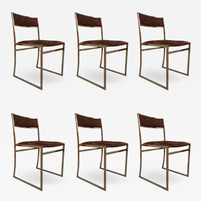 Romeo Rega A set of six chairs by Romeo Rega Italy 70