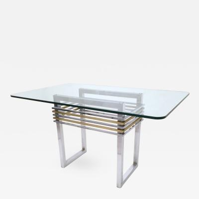Romeo Rega Geometrical Dining Table Ascribable to Romeo Rega Italy 1970s