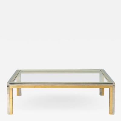 Romeo Rega Huge squared coffee table attributed to Romeo Rega