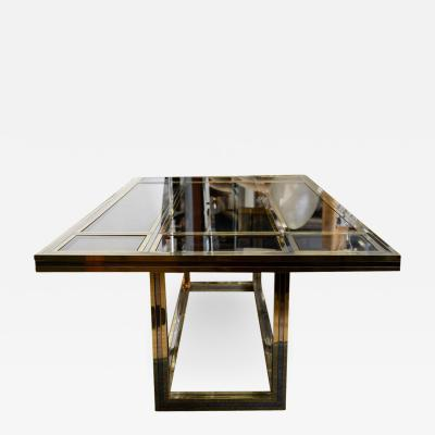 Romeo Rega Large Dining Table by Romeo Rega Italy 1970