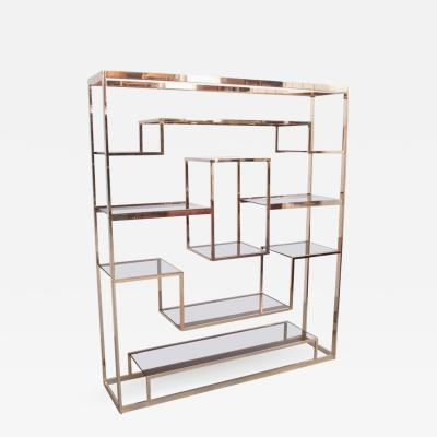 Romeo Rega Large Romeo Rega Brass Shelf or Etagere