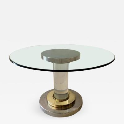 Romeo Rega Lucite Pedestal Table by Romeo Rega