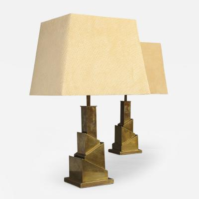 Romeo Rega Pair of Lamps by Romeo Rega