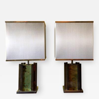 Romeo Rega Pair of Rare Table Lamps by Romeo Rega