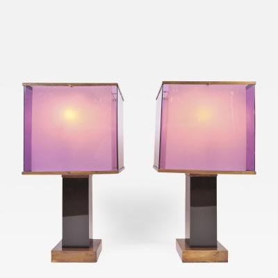 Romeo Rega Pair of large 1970s table lamps by Romeo Rega