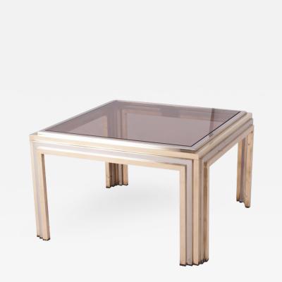 Romeo Rega Romeo Rega Brass and Chrome Coffee Table