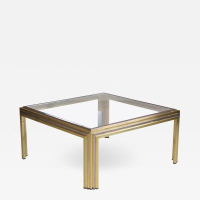 Romeo Rega Romeo Rega Coffee Table in Brass and Chrome