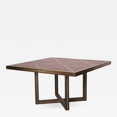 Romeo Rega Romeo Rega Dining Table in Brass Chrome and Wood