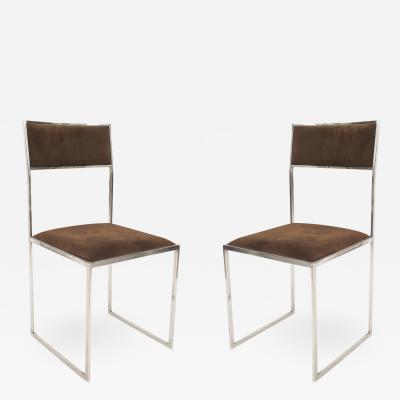 Romeo Rega Set of 4 Contemporary Italian Post War Design 1970s Side Chairs