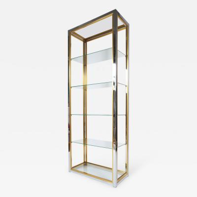 Romeo Rega Set of 4 Romeo Rega Large Etage re Shelves Chrome Brass