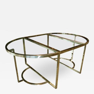 Romeo Rega Versatile Brass Oval or Round Dining Table by Romeo Rega 1970
