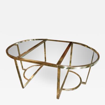 Romeo Rega Versatile Brass Oval or Round Table by Romeo Rega 1970