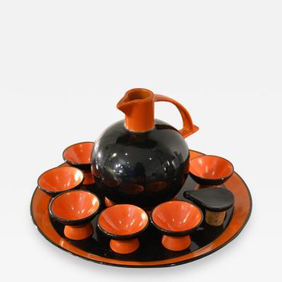 Rometti Umbertide Ceramiche Rometti Umbertide Rosolio Set in Glazed Ceramic
