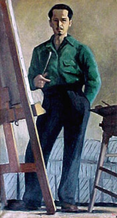 Ron Blumberg Self Portrait in Green Shirt