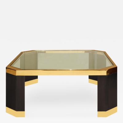 Ron Seff Ron Seff Coffee Table in Gold and Black Nickel 1970s