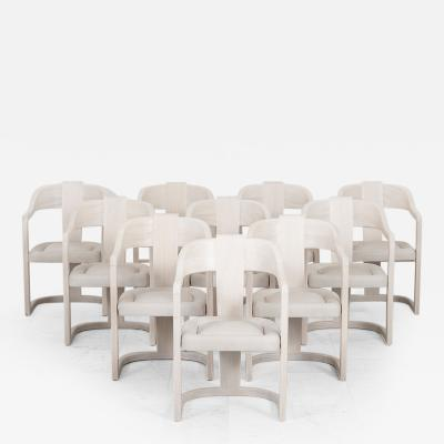 Ron Seff Set of 10 Christy Dining Chairs USA c 1980s