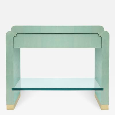 Ron Seff Side Table in Snake Skin by Ron Seff