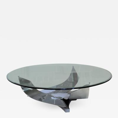 Ron Seff Stainless Steel Cocktail Table by Ron Seff