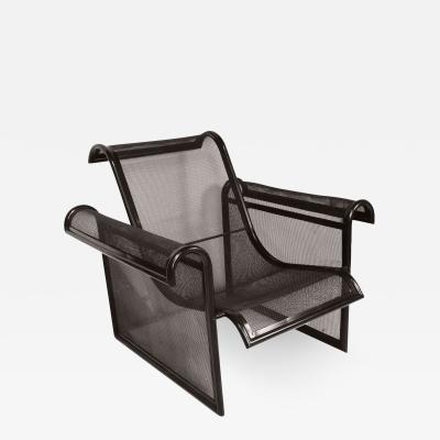 Ronald Cecil Sportes Armchair in lacquered metal by Ronald Cecil Sportes circa 1980