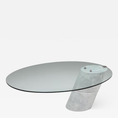 Ronald Schmitt Postmodern Marble Coffee Table by Ronald Schmitt 1980s