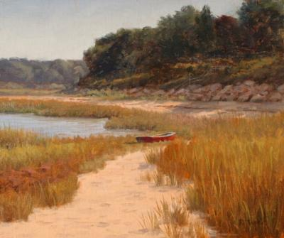 Ronald Tinney FALL BEACH SCENE