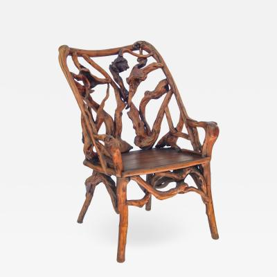Root Wood Arm Chair