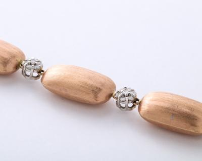 Rose Gold and Diamond Cluster Bracelet