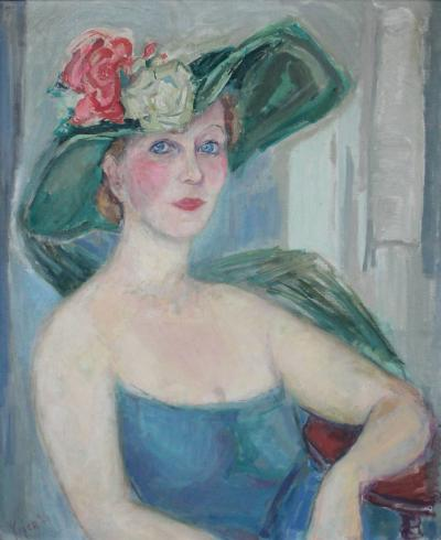 Rose Kuper Woman with Floral Hat
