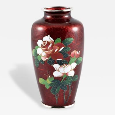 Roses Red Cloisonn Vase