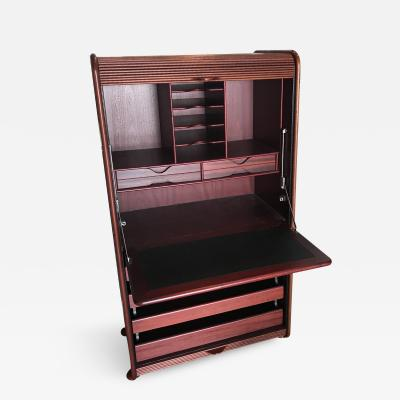 Rosewood Desk with 4 Drawers and Keys