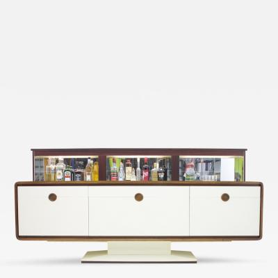 Rosewood Sideboard with an Electric Bar 1970s