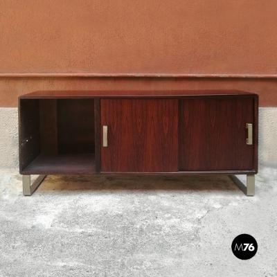 Rosewood sideboard with two sliding doors 1960s