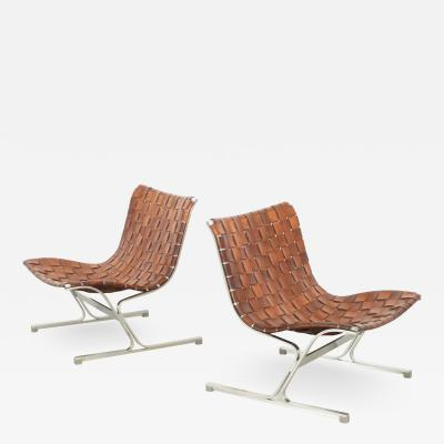 Ross F Littell Pair of Luar Lounge Chairs by Ross Littell for ICF Milano