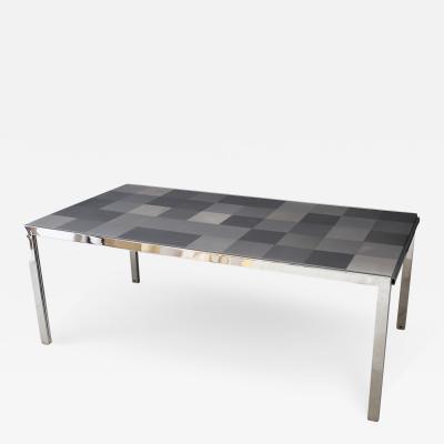 Ross F Littell Table by Ross Littell for ICF De Padova Model Luar Op in Stainless grey 1970s
