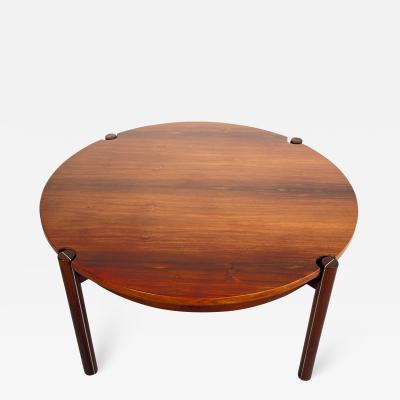 Round Mid Century Coffee Table by Hans J Frydendal