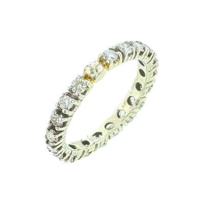 Round White Diamond Band 14K White Gold