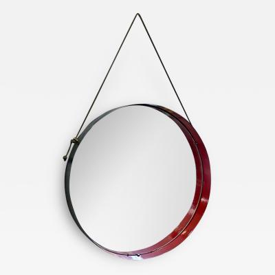 Round metal mirror 1960s
