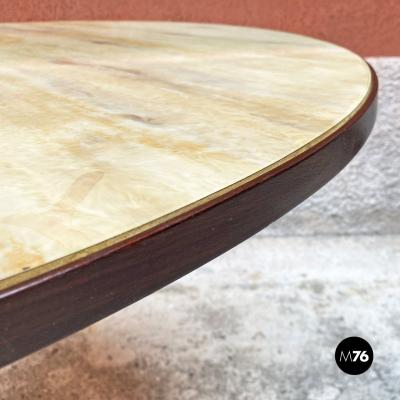 Round table with marble effect 1950s
