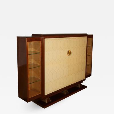 Rousseau et Lardin Rousseau and Lardin Cabinet with Parchment Doors