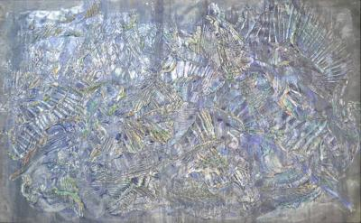 Roy Lerner Roy Lerner Tears of the Moon Large Textured Acrylic Abstract on Canvas