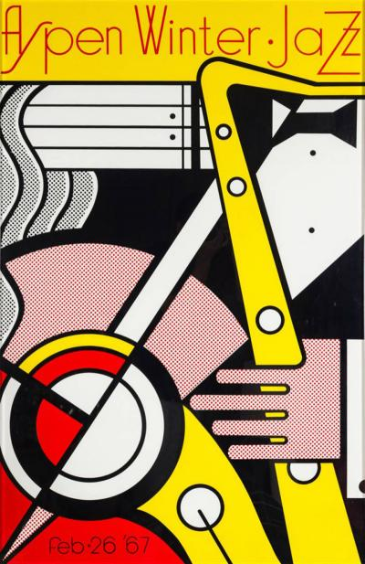 Roy Lichtenstein Aspen Winter Jazz Serigraph by Roy Lichtenstein
