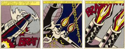 Roy Lichtenstein Roy Lichtenstein Signed Triptych As I Opened Fire Prints Stedelijk Museum